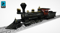 steam locomotive ls 01 3d model