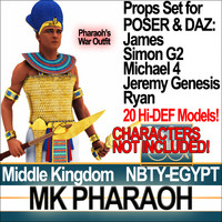 Props Set Poser Daz for Ancient Egypt MK Pharaoh