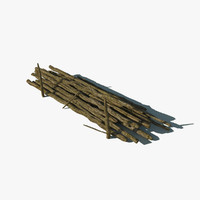3ds max pile wooden logs