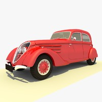 classic 1939 peugeot red 3ds