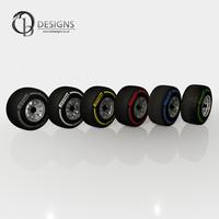 3d model pirelli tyres