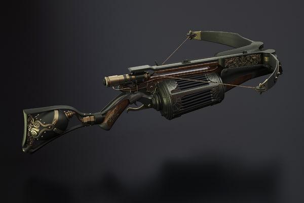 3d model crossbow van helsing - Van Helsing crossbow    by Alexiy odVan Helsing Weapons