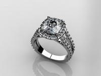 3d cushion diamond