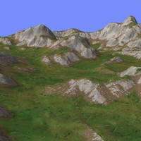 3d model of grassy terrain tm1-01