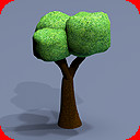 80 trees toon textured
