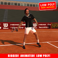 ged tennis player 3d max