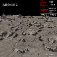 3d muddy terrain m1-01 model