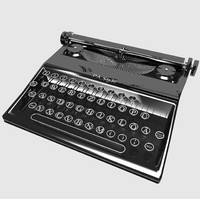 3d 3ds typewriter writer type