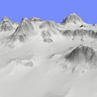 maya snowy terrain tm1-01