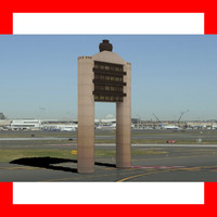 3d boston logon airport tower