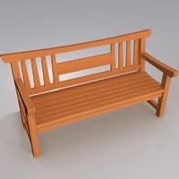Japanese garden bench
