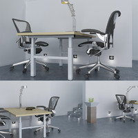 white office 3d model