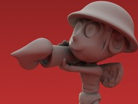 3d bazooka love valentine model