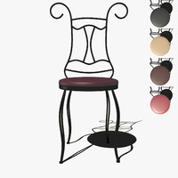 free obj mode stool forged chair