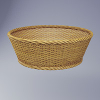 Wicker basket round