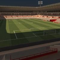 soccer stadium 3d max