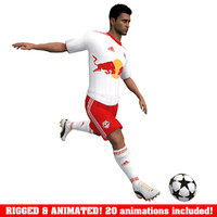 3d model soccer player rb