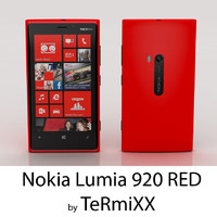 3d model nokia lumia 920 red