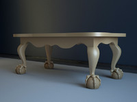 3d chippendale coffee table
