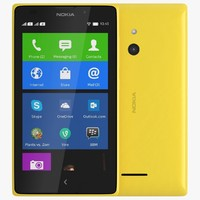 3d model nokia xl yellow