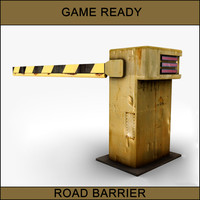 3d rusty street barrier