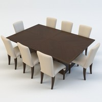 dining table chair 3d c4d