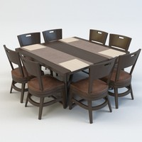 dining table chair c4d