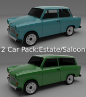 Trabant 601 estate/saloon pack