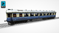 passenger wagon ws 15 3d model