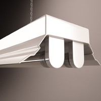 fluorescent light fixture c4d