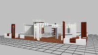 exhibition design 3d dwg