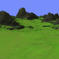 grassy terrain dm-03 3d model