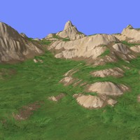 3d model grassy terrain tm1-02