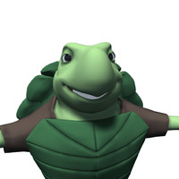 3d obj cartoon turtle character