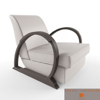 3d hugues chevalier liberty armchair model