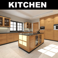 3d model kitchen realistic