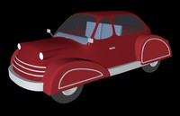 cinema4d cartoon car stylized