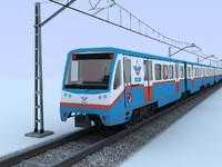 suburban train 3d 3ds