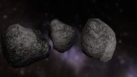 space rocks 3d model