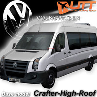 3d model volkswagen crafter roof van