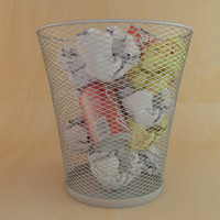 3d model waste paper basket
