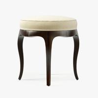 3d model baker vanity stool
