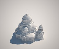 3d model shrine lady