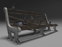 3d 3ds old bench