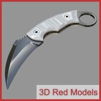 knife karambit 3d obj