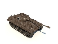 3d model panther tank panzer