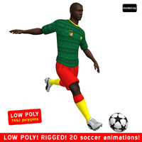 3d model of soccer player cameroon