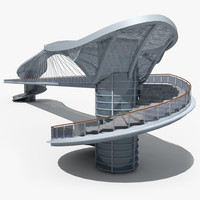 3d model pedestrian bridge