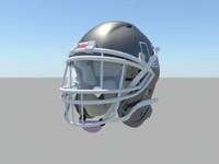 3d model riddell helmet