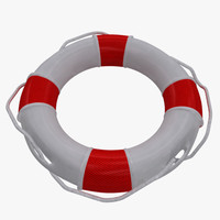 white lifebuoy 3d model